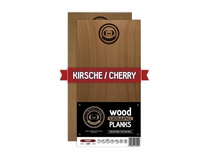 GRILLGOLD Grillgold Räucherbrett Wood Grilling Planks 2er Set Kirsche / Cherry
