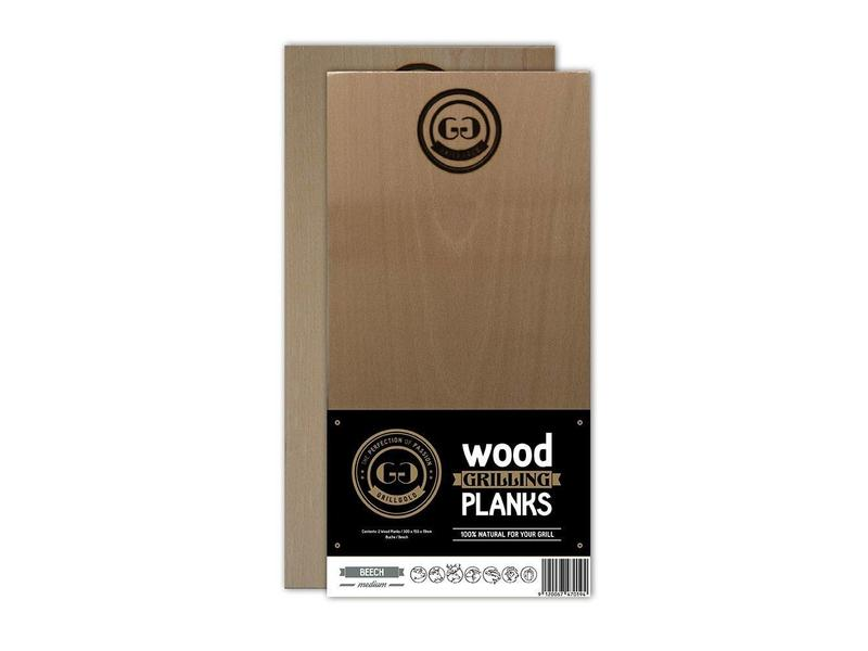 GRILLGOLD Grillgold Räucherbrett Wood Grilling Planks 2er Set Buche