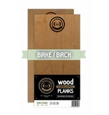 GRILLGOLD Grillgold Räucherbrett Wood Grilling Planks 2er Set Birke
