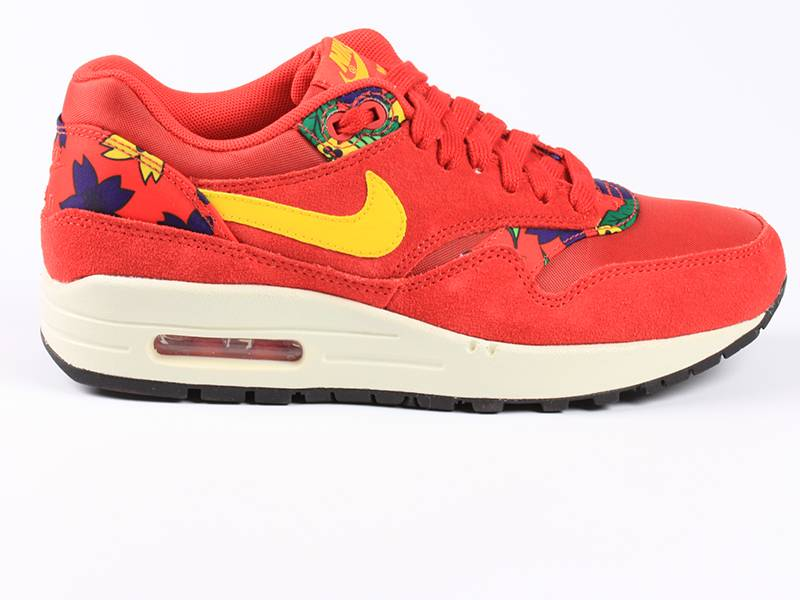Nike Air Max 1 Print University Red/Yellow 528898 602
