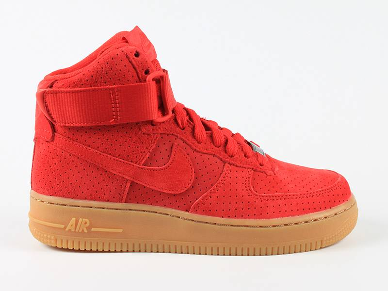 Nike Air Force Suede Rood