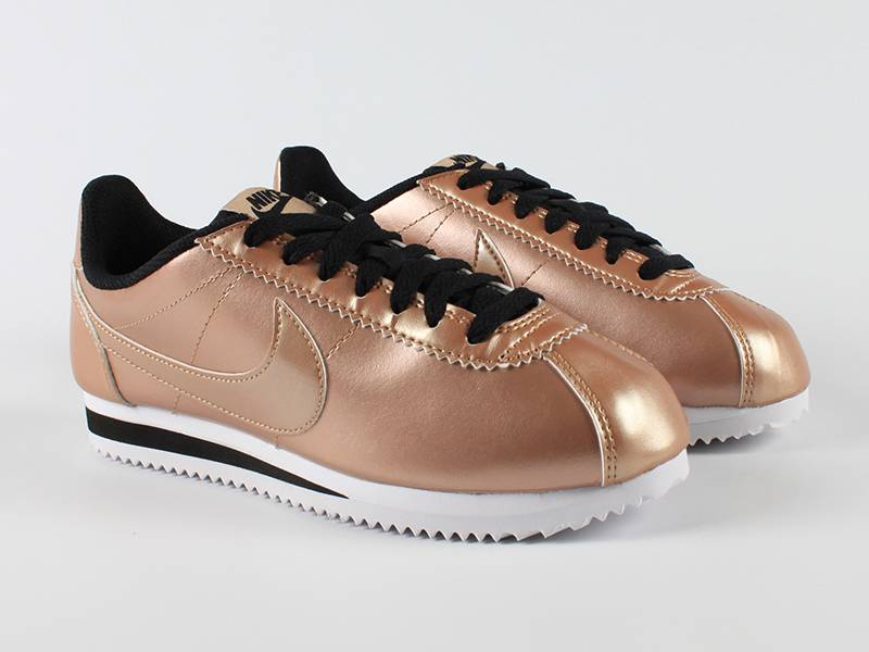 nike dames classic cortez leather bronze