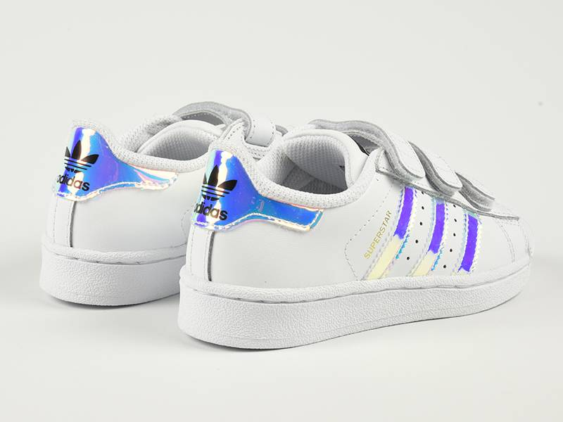 adidas superstar blauw metallic