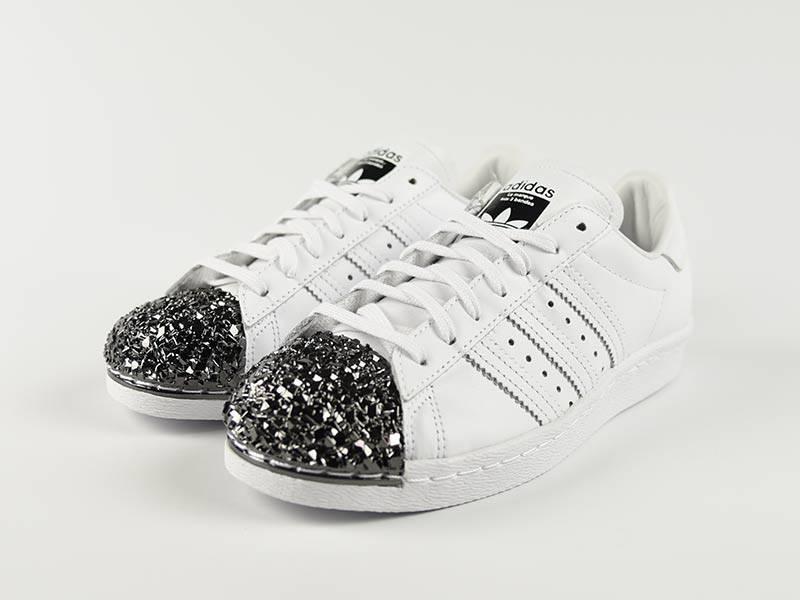 superstar 80s metal toe mens silver