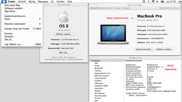 Mac Pro RAM geheugen omschrijving