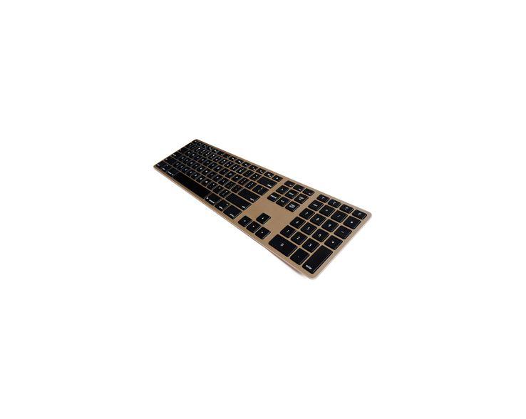 Matias Matias Draadloos Aluminium Toetsenbord voor Mac (Goud)
