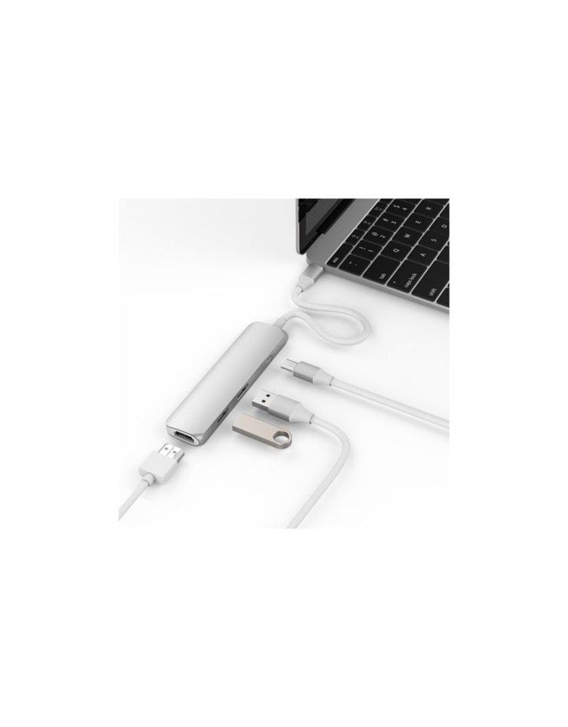 Hyper Hyper USB-C hub met 4K HDMI (Zilver)