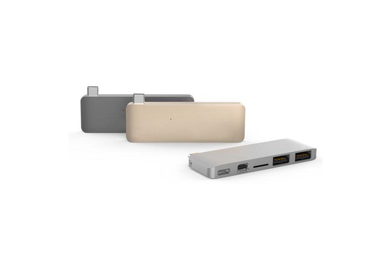 Hyper Hyper USB-C Hub met Mini DisplayPort (Spacegrijs)