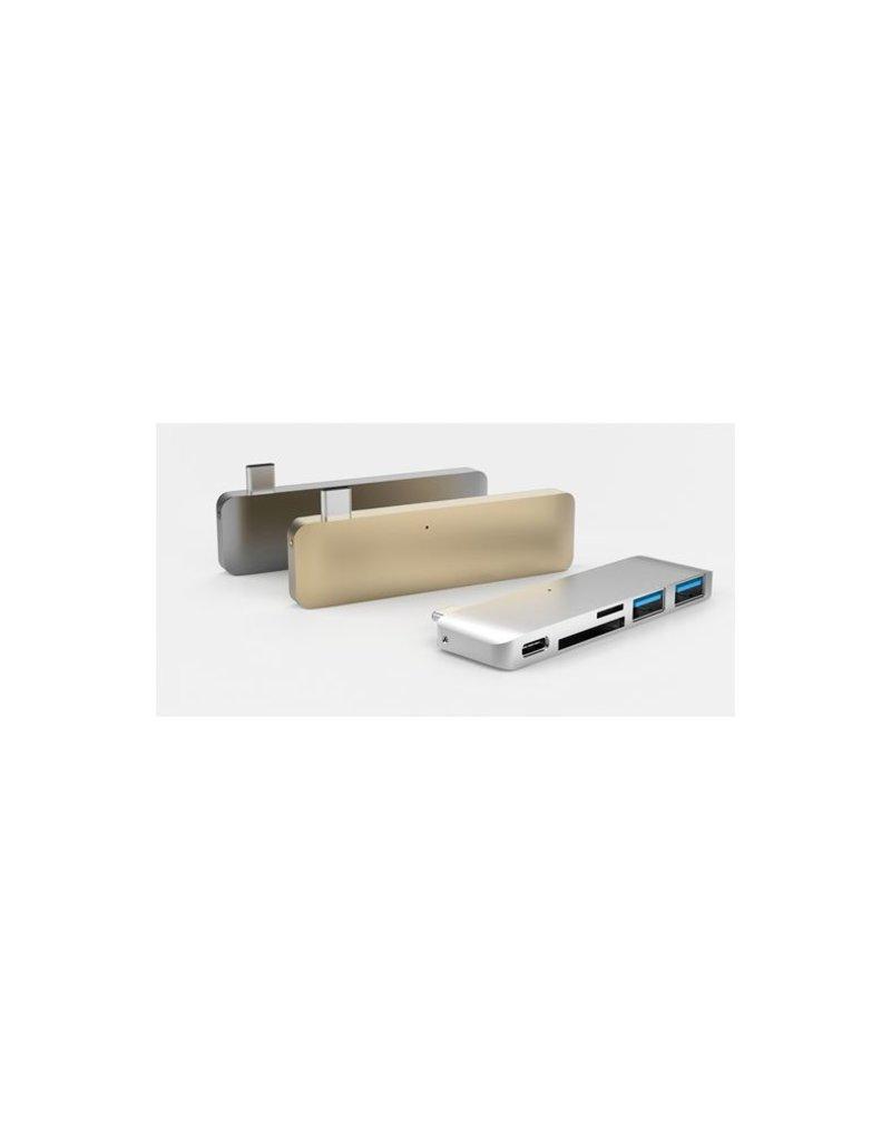 Hyper Hyper USB-C Hub met oplaadondersteuning (Goud)