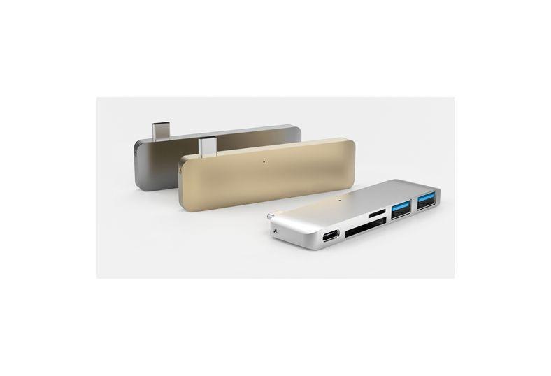 Hyper Hyper USB-C Hub met oplaadondersteuning (Spacegrijs)