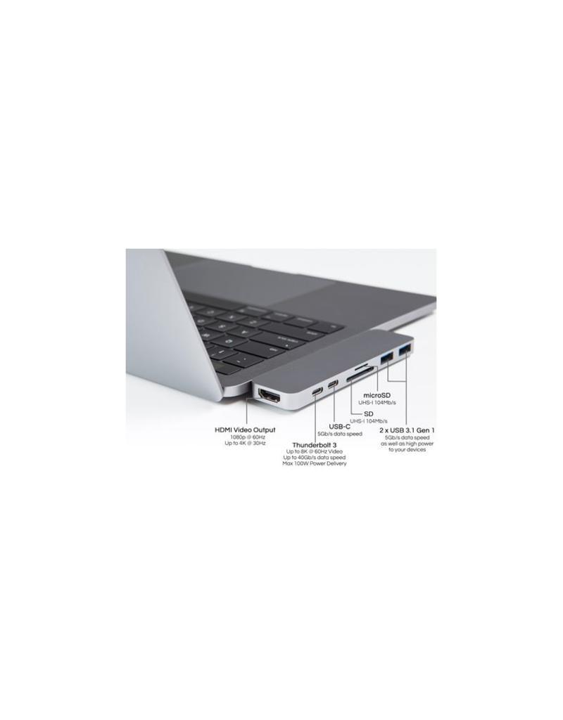 Hyper HyperDrive Thunderbolt 3 USB-C Hub voor MacBook Pro (Space Grijs)