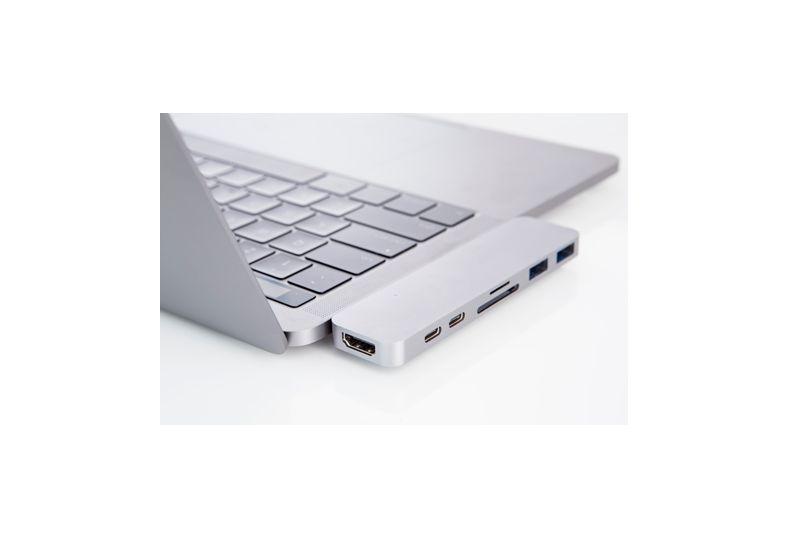 Hyper HyperDrive Thunderbolt 3 USB-C Hub voor MacBook Pro (Zilver)