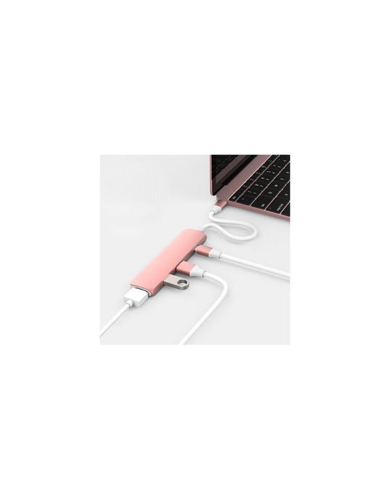 Hyper Hyper USB-C Hub met 4K HDMI (Rose Goud)