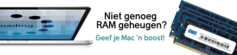 Mac RAM geheugen banner