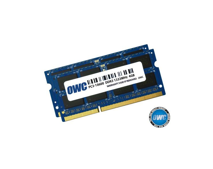 OWC OWC 8GB RAM Kit (2x4GB) MacBook Pro Early 2011 tot Late 2011