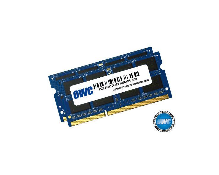 OWC OWC 8GB RAM (2x4GB) MacBook Pro Late 2008 tot Mid 2009