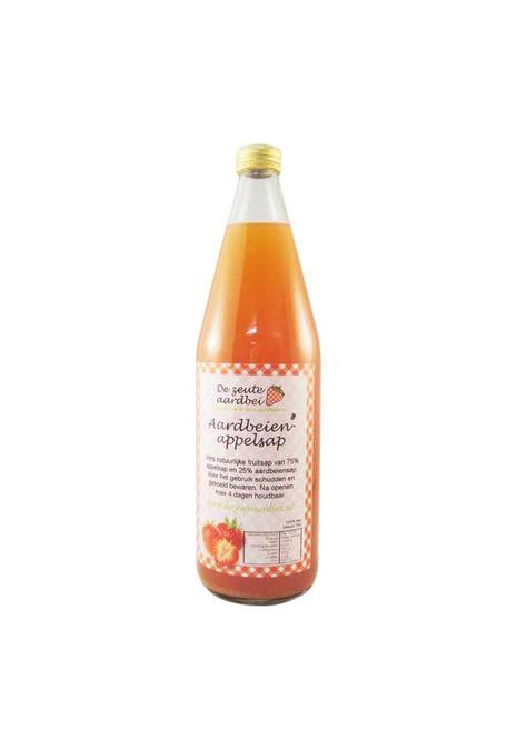De Zeute Aardbei aardbeien appelsap 0,75l