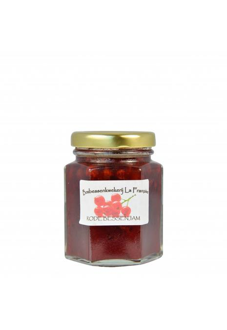 Bosbessenkwekerij La Française Rode bessen jam (50 gram, 135 gram of 325 gram)