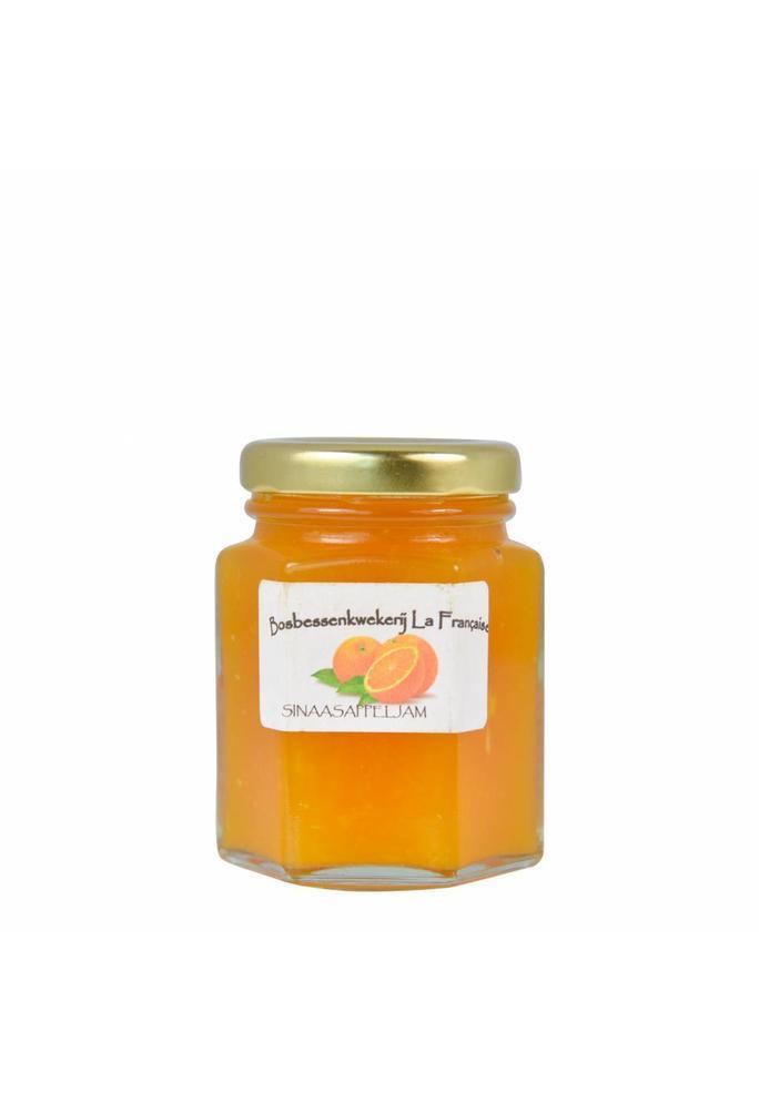 Bosbessenkwekerij La Française Sinaasappel jam La Française (50 gram, 135 gram of 325 gram)