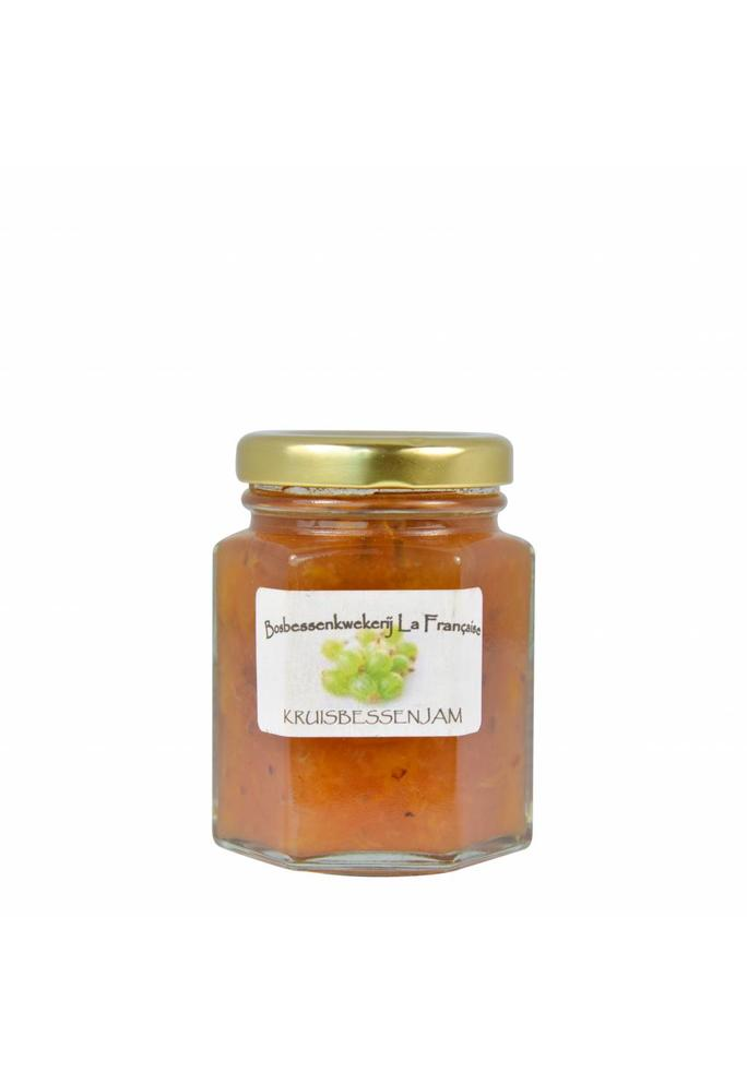 Bosbessenkwekerij La Française Groene kruisbessen jam La Française (50 gram, 135 gram of 325 gram)