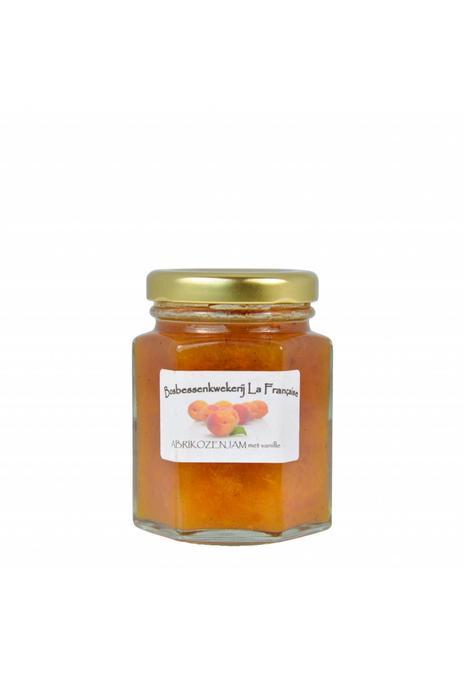 Bosbessenkwekerij La Française Abrikozen jam met vanille (50 gram, 135 gram of 325 gram)