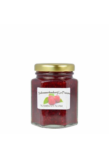 Bosbessenkwekerij La Française Frambozen jam (50 gram, 135 gram of 325 gram)