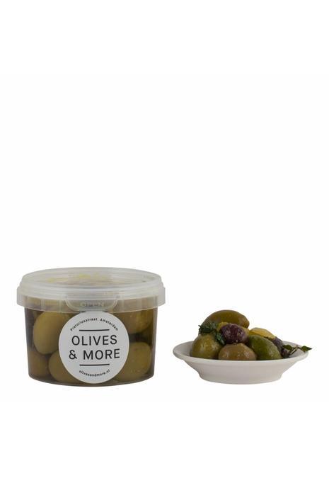 Olives & More Olives & More / Selectie olijven met citroen en tijm (150 gr)