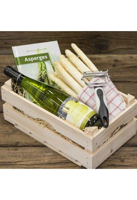 Bourgondisch Limburg Verwenpakket: 1 kilo dagverse AA1 asperges & wijn van eigen bodem