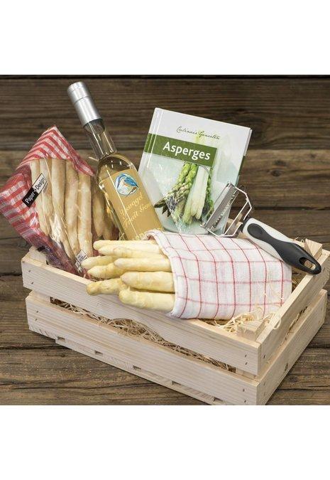 Bourgondisch Limburg Verwenpakket: 1 kilo dagverse AA1 asperges &  likorette van asperges