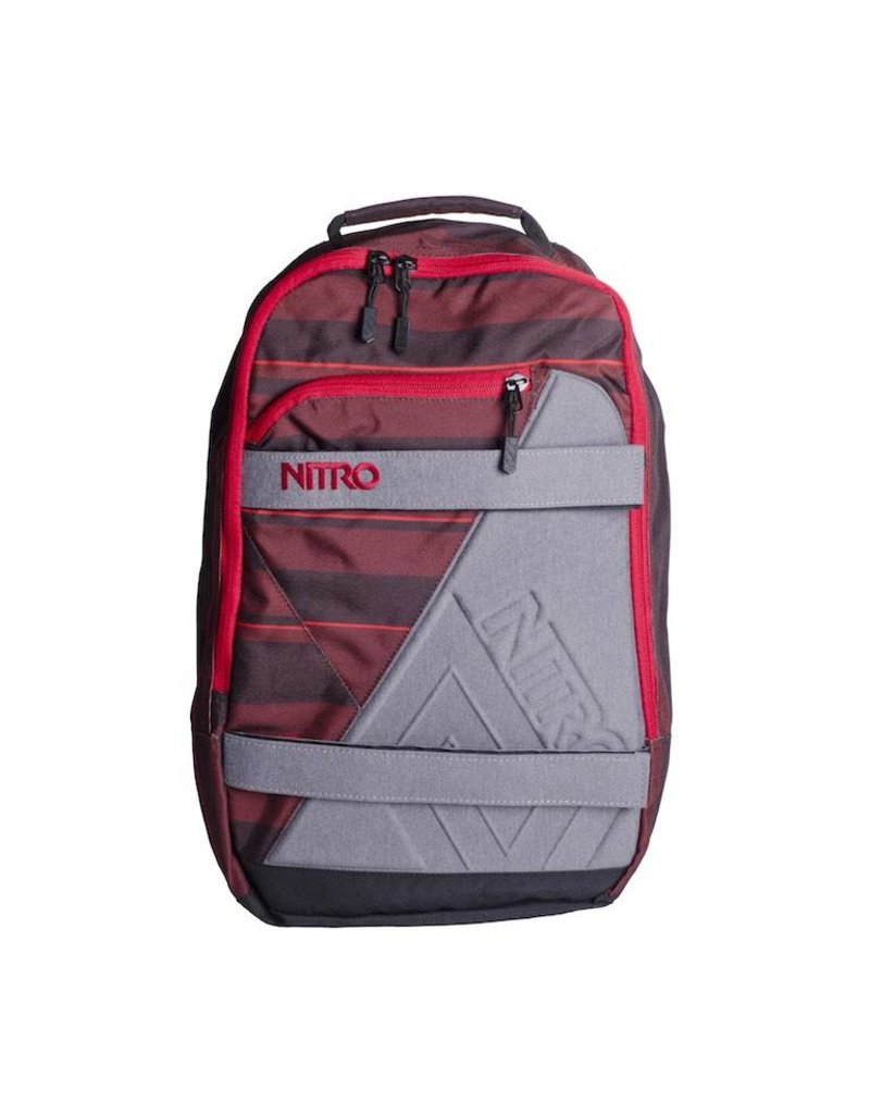 Nitro Nitro Backpack Axis Red Stripes