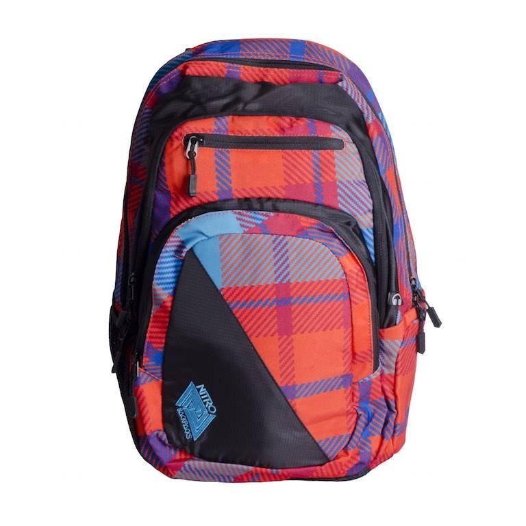 Nitro Nitro Backpack Zoom Plaid Red-Blue