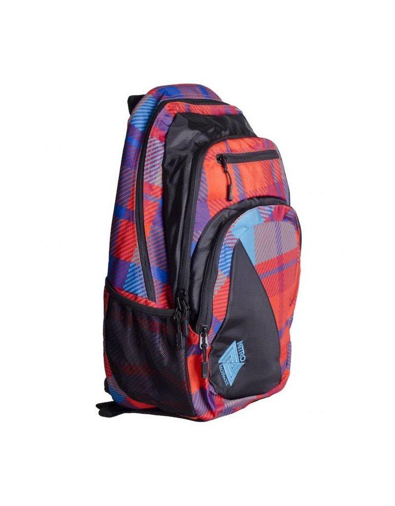 Nitro Nitro Backpack Stash Plaid Red-Blue