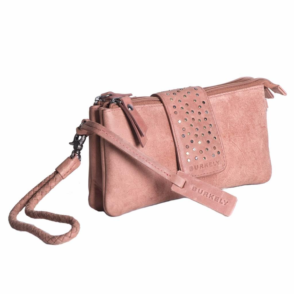 Burkely Burkely Filippa Wallet-Clutch Studs Mini Bag Nude