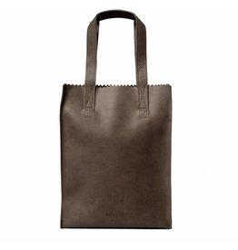 MYOMY MY PAPER BAG Long Handle Dark Chocolade Schoudertas Zipper