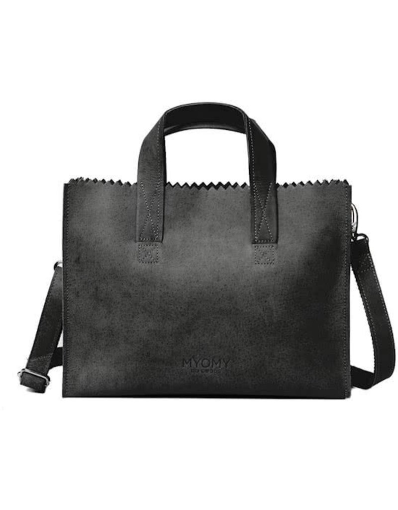 MYOMY MY PAPER BAG Handbag cross-body - off-black