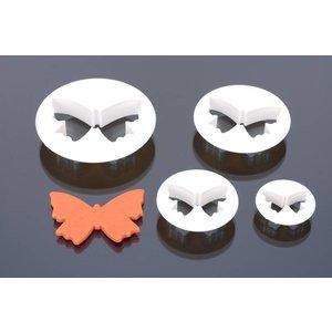 Ausstecherr, Schmetterling, serie 4 stück, 5,5 cm, 5 cm, 7,5 cm, 6,5 cm