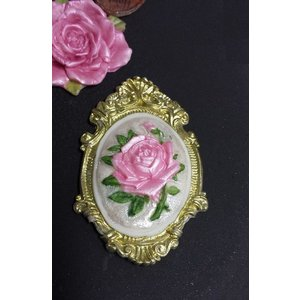 Silicone Mold - Rose in photo frame 7cm