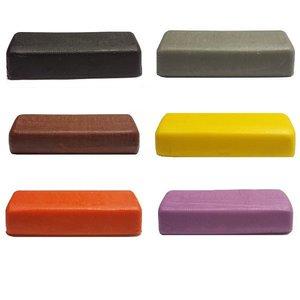 Marsepein - Zwart, Grijs, Bruin, Geel, Oranje en Paars 6x 250g
