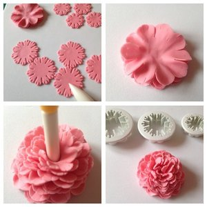 Cutter, Carnation, set 3 pieces, 2,5 cm, 3,5 cm, 4 cm