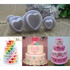 Plunger Cutter, Heart, set 3 pieces 1 cm, 1,5 cm, 2 cm
