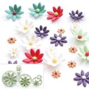 Plunger Cutter, Daisy, marguerite, set 4 pieces 1 cm, 2 cm, 3 cm, 4 cm