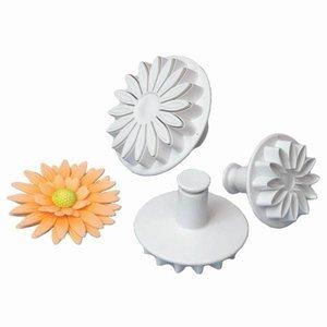 Plunger cutter Sunflower, Daisy, Gerbera. Set 3pcs, 5cm, 6cm, 7cm