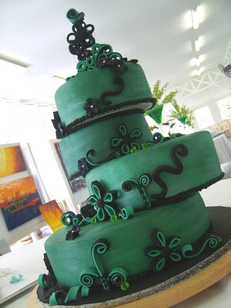 Dark Green Fondant 1kg 4x250g Sweet Choice