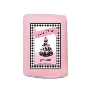 Fondant pastel roze 1kg (4x250g)