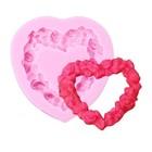 Silikonform - Herz von Rosen