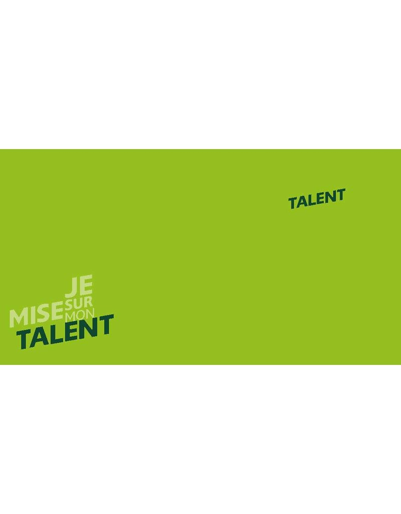 Talentcard of the toolbox 'Ik kies voor mijn Talent' in French