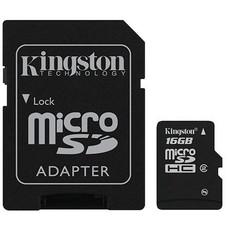 Kingston Micro SD 16GB + Adapter Class 4