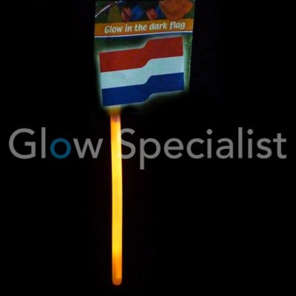 ORANGE GLOW STICK FLAG - 5 PIECES