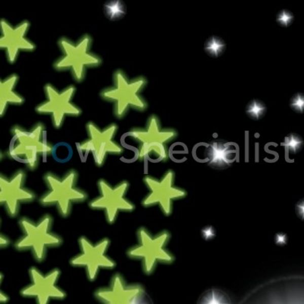 GLOW IN THE DARK STARS - 102 PIECES