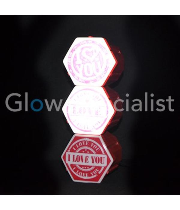 Party Fun Light LED LIGHT 'I LOVE YOU'